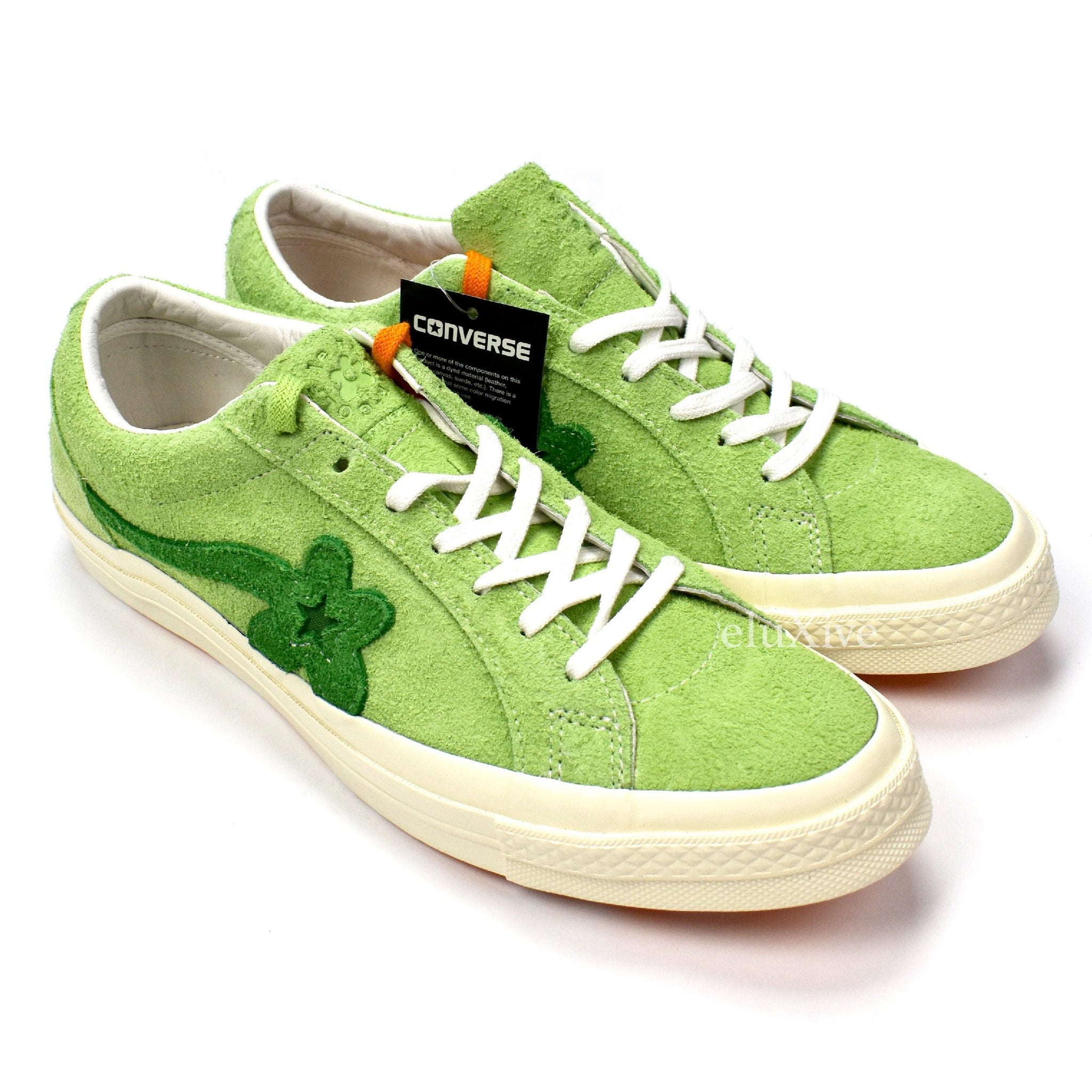 99d2bc937d1a Converse x Golf Wang - Lime Green  Golf Le Fleur  One Star Sneakers ...