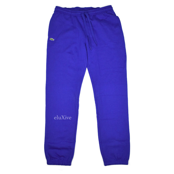 Lacoste - Blue Croc Logo Sweatpants