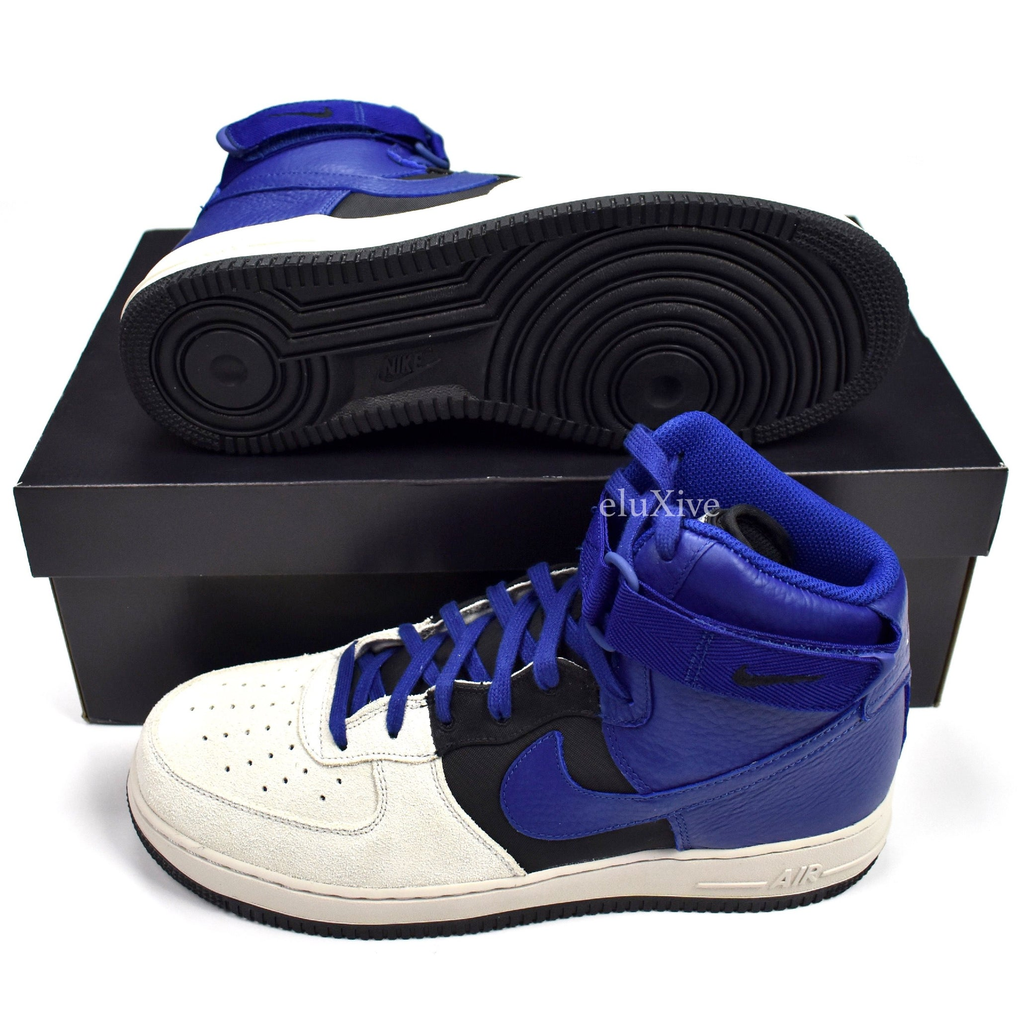 651bfb6bbdc Nike - Men s Air Force 1 High  07 LV8 Pure Platinum   Deep Royal ...