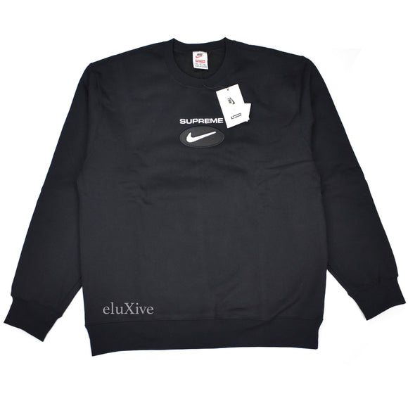 Supreme x Nike - Jewel Logo Crewneck Sweatshirt (Black)