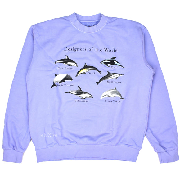 Mega Yacht - Designers of the World Dolphin Logo Sweatshirt