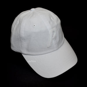 Palace - White P-Logo Canvas Hat (SS20)