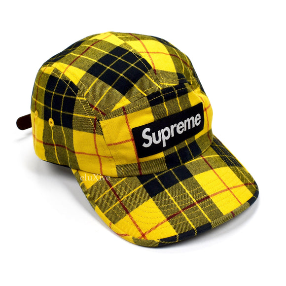 Supreme - Box Logo Washed Chino Twill Hat (Yellow Tartan)