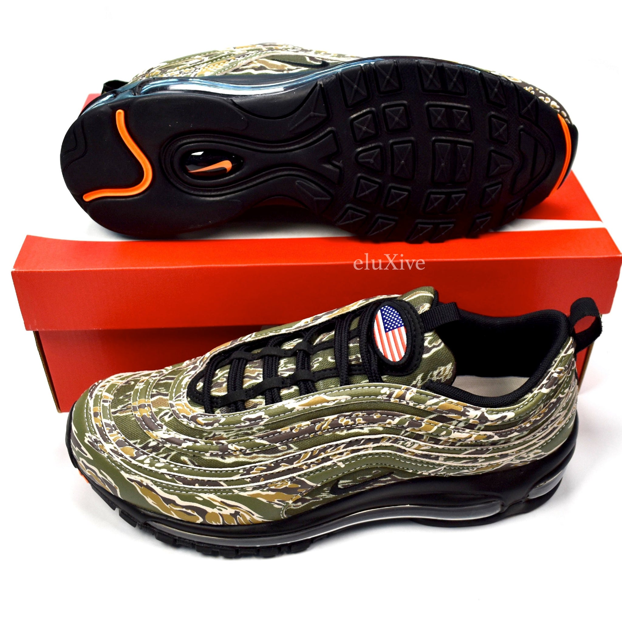 de49c732a Nike - Men s Air Max 97 Country Camo  USA  Retro Sneakers – eluXive