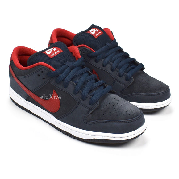 Nike - Dunk Low Pro SB (Obsidian/Red)