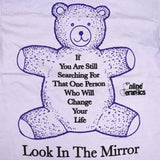 Online Ceramics - Look In The Mirror Bear T-Shirt (Purple)