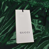Gucci - Green Laminated Mesh Logo Stripe Track Pants