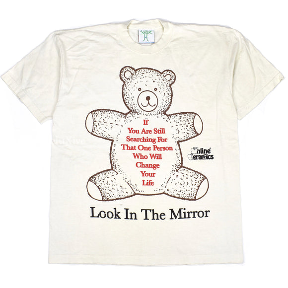 Online Ceramics - Look In The Mirror Bear T-Shirt (Beige)
