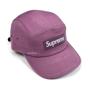 Supreme x Loro Piana - Purple Wool Box Logo Hat