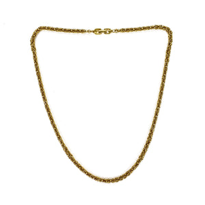 "Givenchy - 24""Gold Byzantine Chain Necklace"