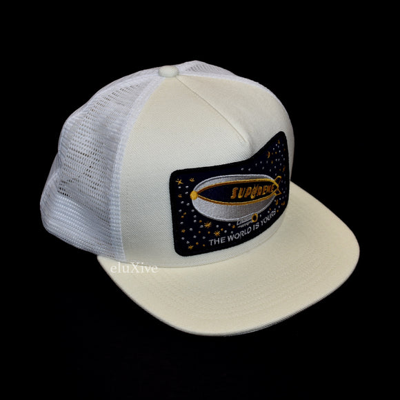 Supreme - Blimp Logo Trucker Hat (White)