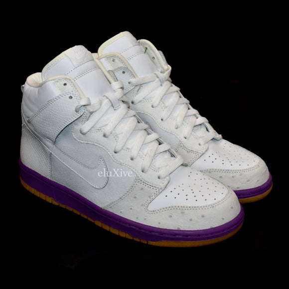 Nike - 2005 Dunk High Deluxe (White/Hyacinth)