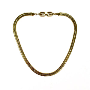 "Givenchy - 19.5"" Gold Herringbone Chain Necklace"