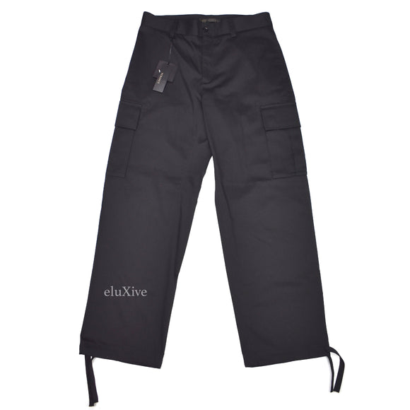 Versace - Black Viscose Cargo Pants