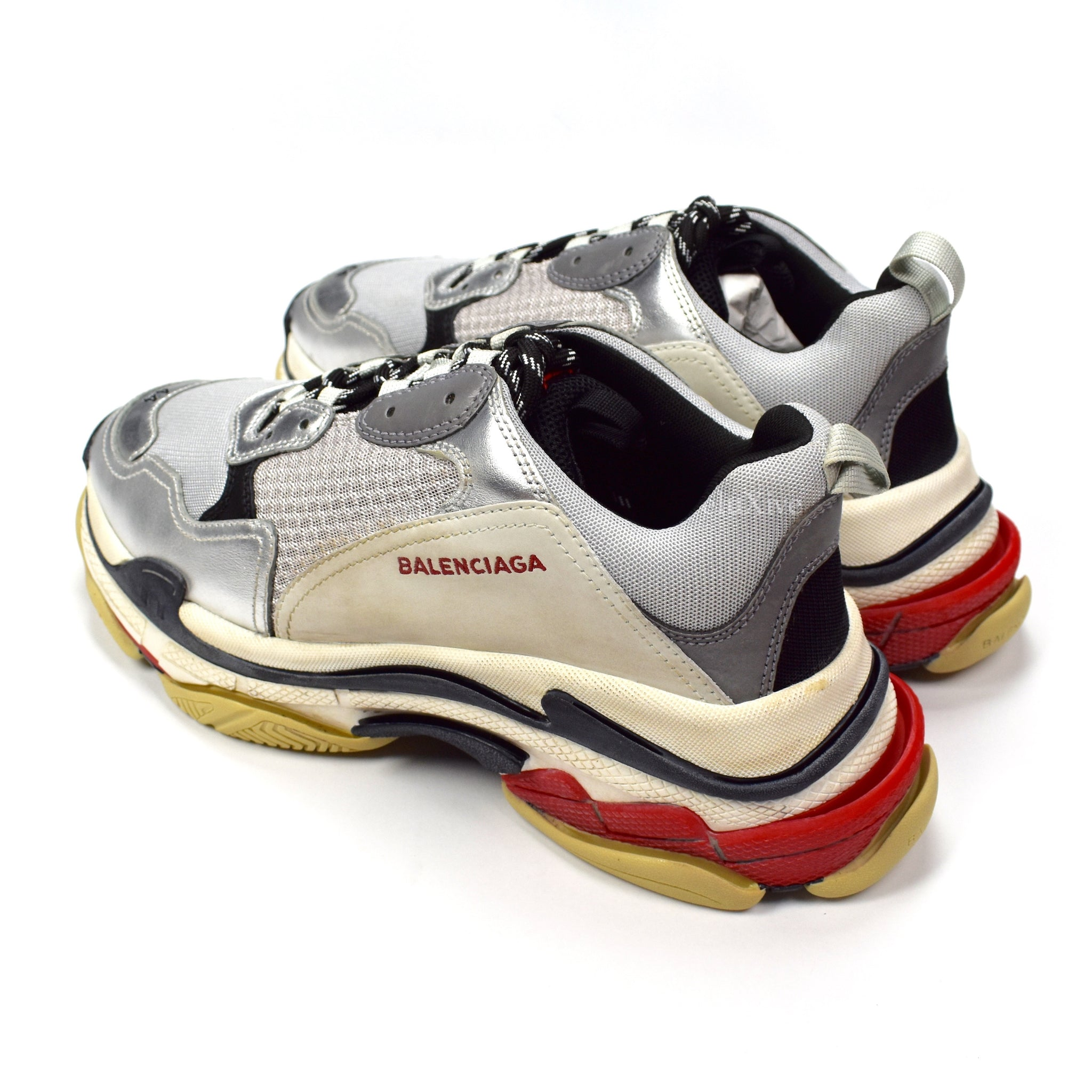 Balenciaga - Triple S Trainer (Silver/Red)