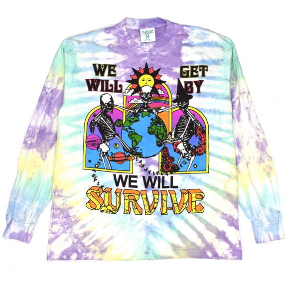 Online Ceramics - We Will Survive L/S Tie-Dye T-Shirt