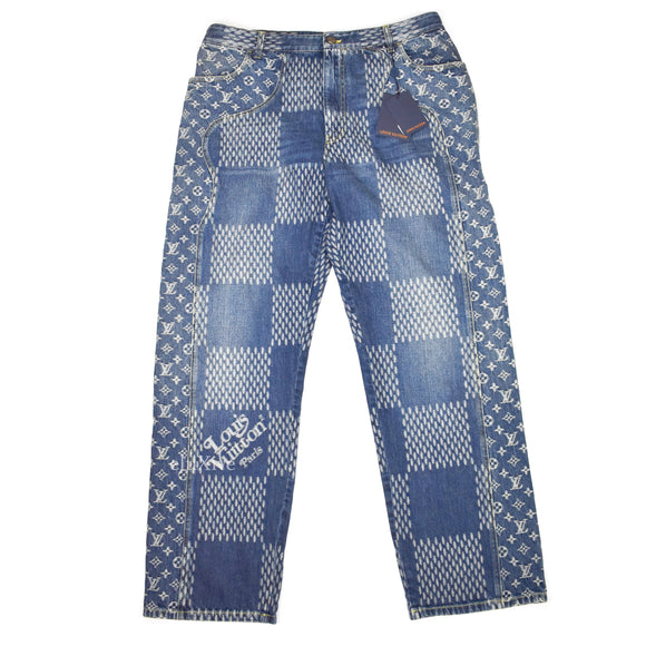 Louis Vuitton x Nigo - Giant Damier Waves Monogram Denim Jeans