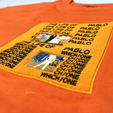 Collection 26 - Orange 'Pablo' Artwork Embroidered T-Shirt