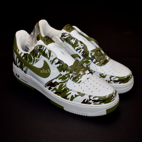 Nike - 2005 Air Force 1 'Camo' (White/Palm Green)