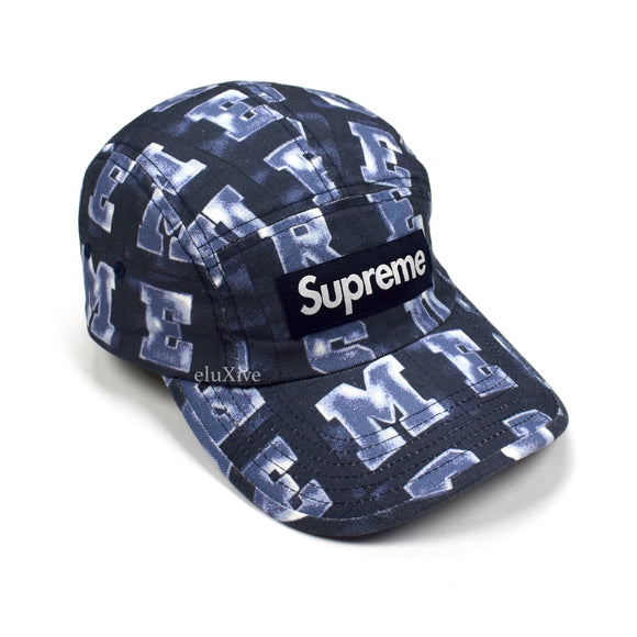 Supreme - Blocks Print Box Logo Hat (Navy)