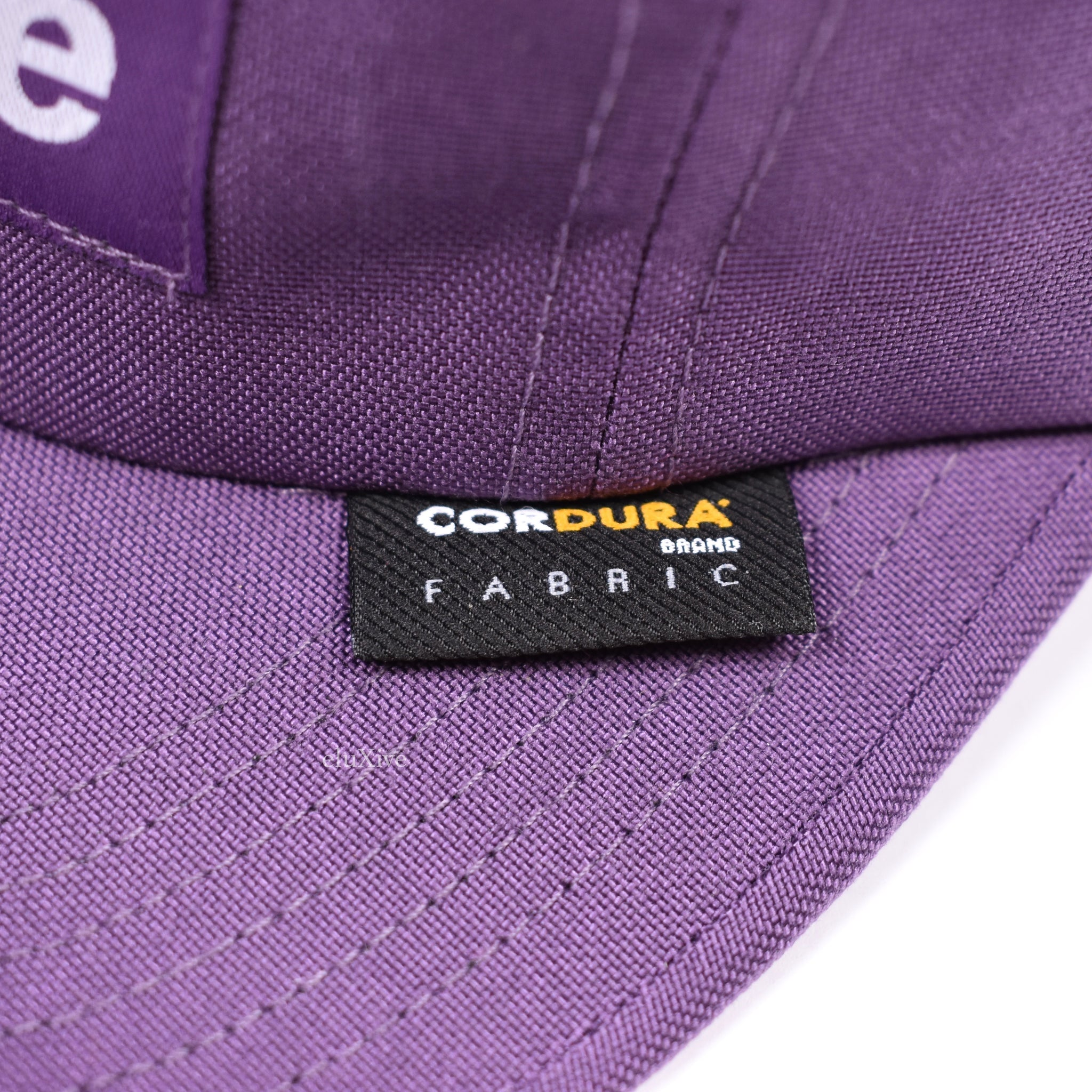 21a2d9fc515 Supreme - Purple Box Logo Cordura Camp Cap Hat SS18 – eluXive