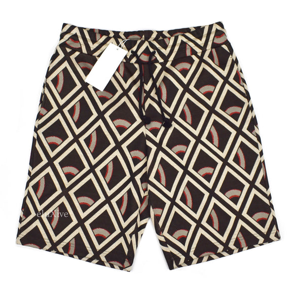 Maison Margiela - Jacquard Diamond Knit Shorts