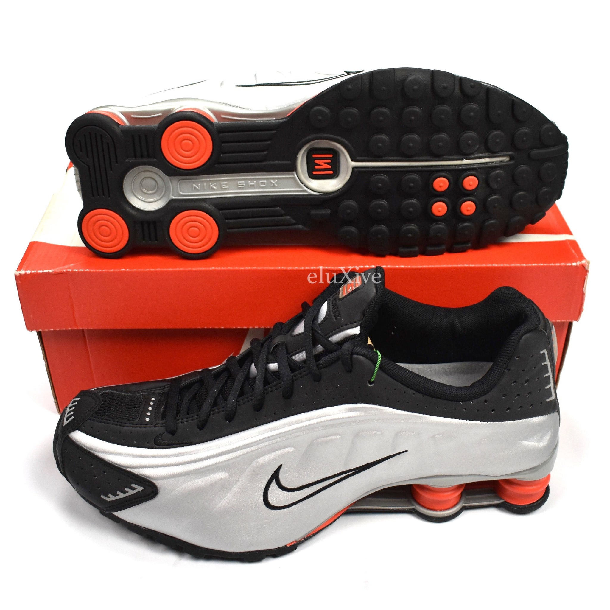 brand new bf2d5 7d563 ... switzerland nike shox r4 og black silver orange c33e9 e4f16 ...