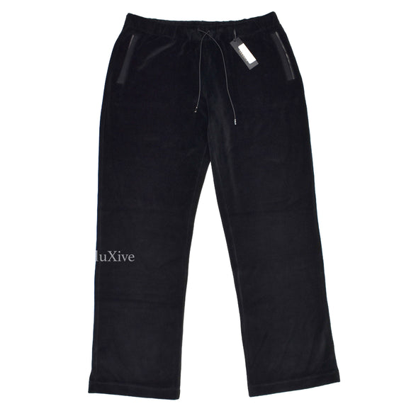 Versace - Black Velour Track Pants