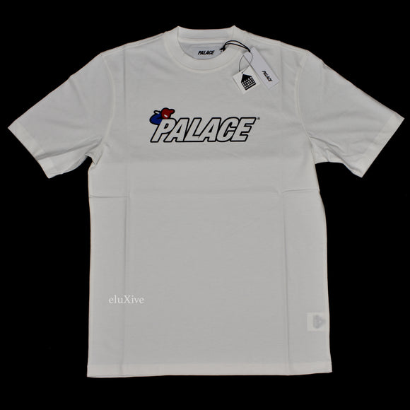Palace - Bunning Man Logo T-Shirt (White)