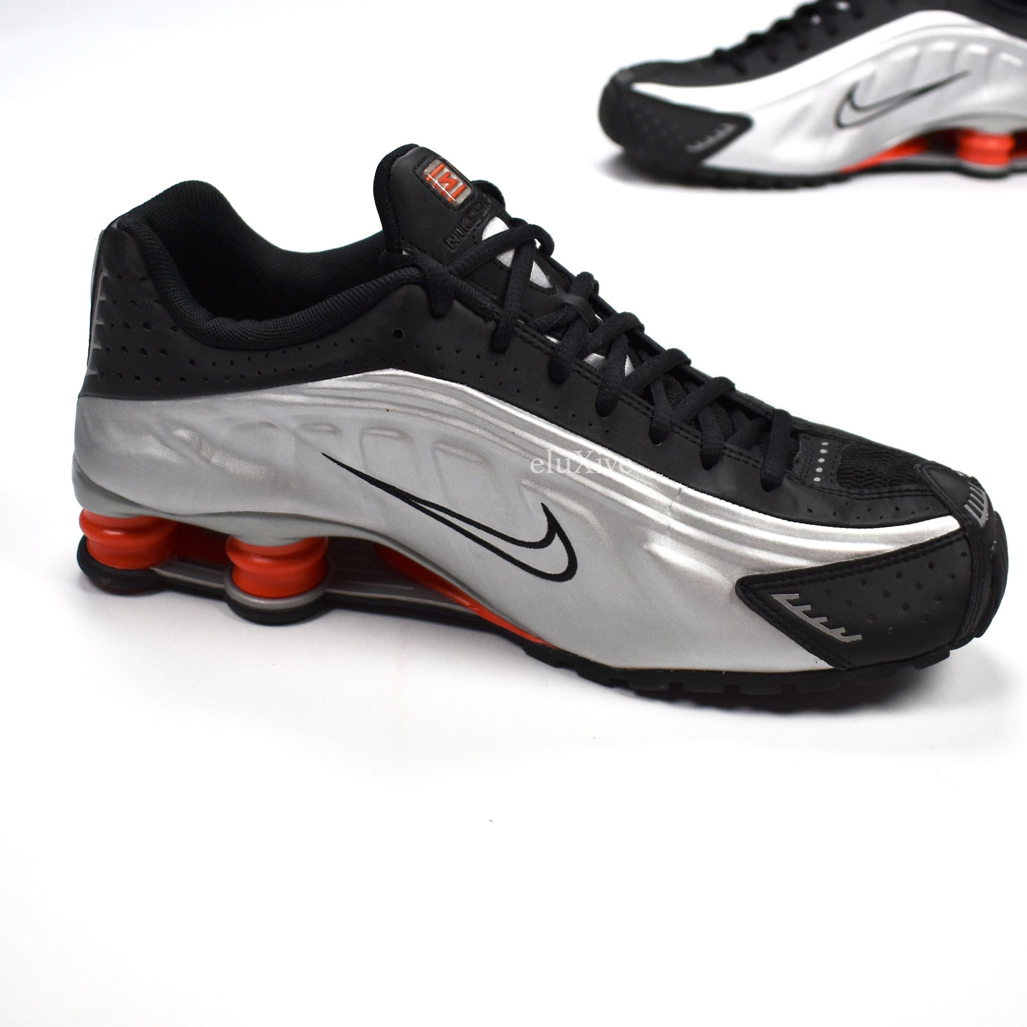 e9f872ec9cab52 Women Nike Shox R4 Zoom Orange White Silver Black Women Nike Shox R4 ...