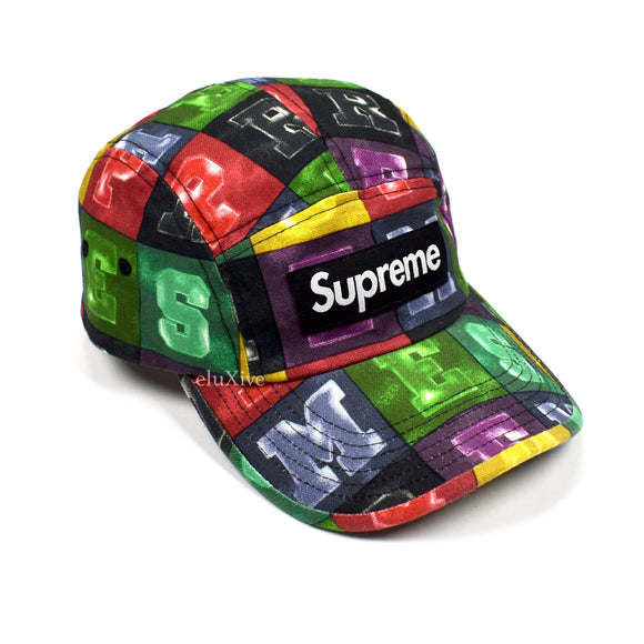 Supreme - Blocks Print Box Logo Hat (Multicolor)