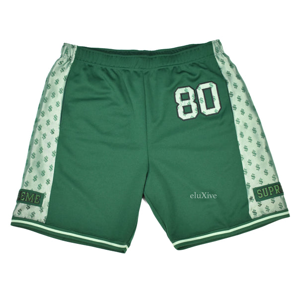 Supreme - Green Monogram Logo Shorts