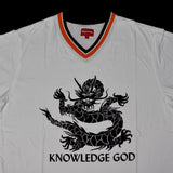 Supreme - White 'Knowledge God' Practice Jersey