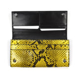 Tom Ford - Yellow Exotic Python Long Wallet