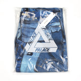 Palace - Double Denim Allover Print Jeans