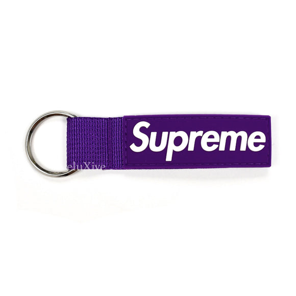 Supreme - Box Logo Webbing Keychain (Purple)