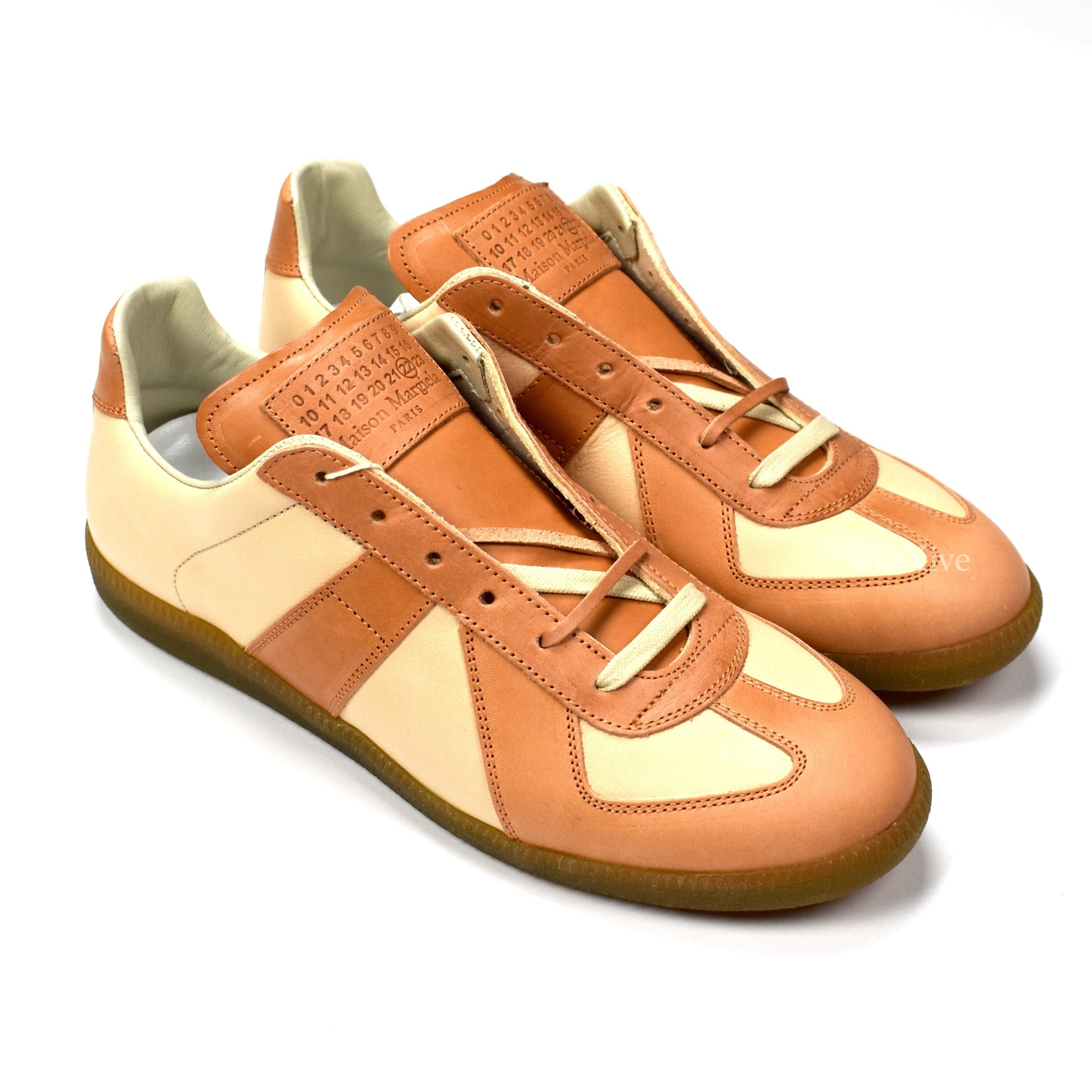 Maison Margiela - Tan Leather GAT Sneakers