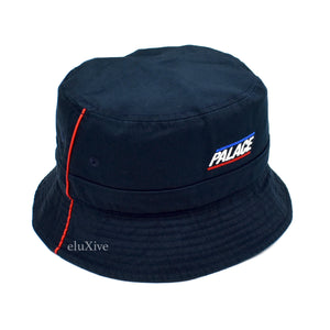 Palace - Pipeline Logo Bucket Hat (Navy)