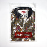 Supreme - Paisley Print Zip-Up Polo Shirt