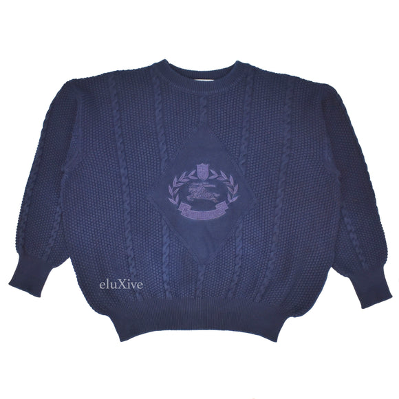 Burberry - Navy Vintage Crest Logo Sweater