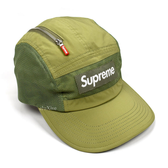 Supreme - Box Logo Zip Mesh Hat (Olive)