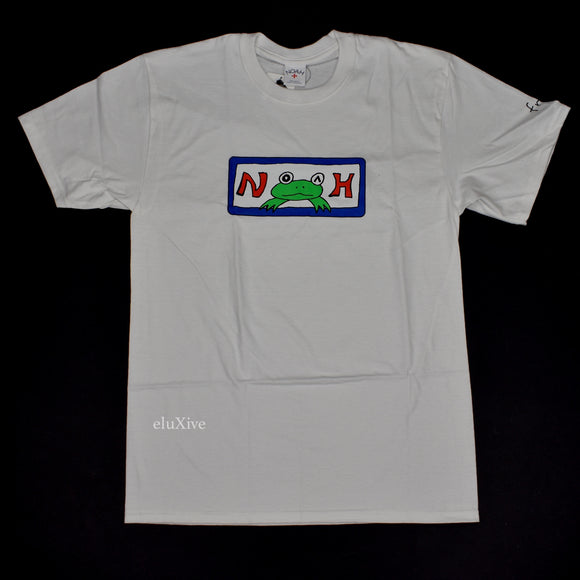 Noah x Frog Skateboards - Logo Print Work T-Shirt (White)