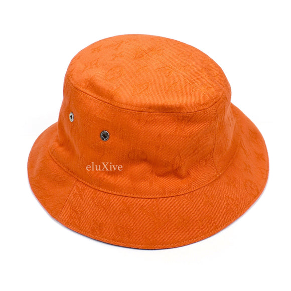 Louis Vuitton - Monogram Denim Woven Bucket Hat (Orange)