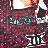 Supreme - Maroon Obama Print Shirt
