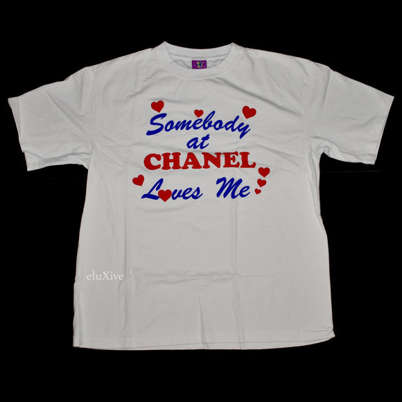 Mega Yacht - Somebody at Chanel Loves Me T-Shirt (White)