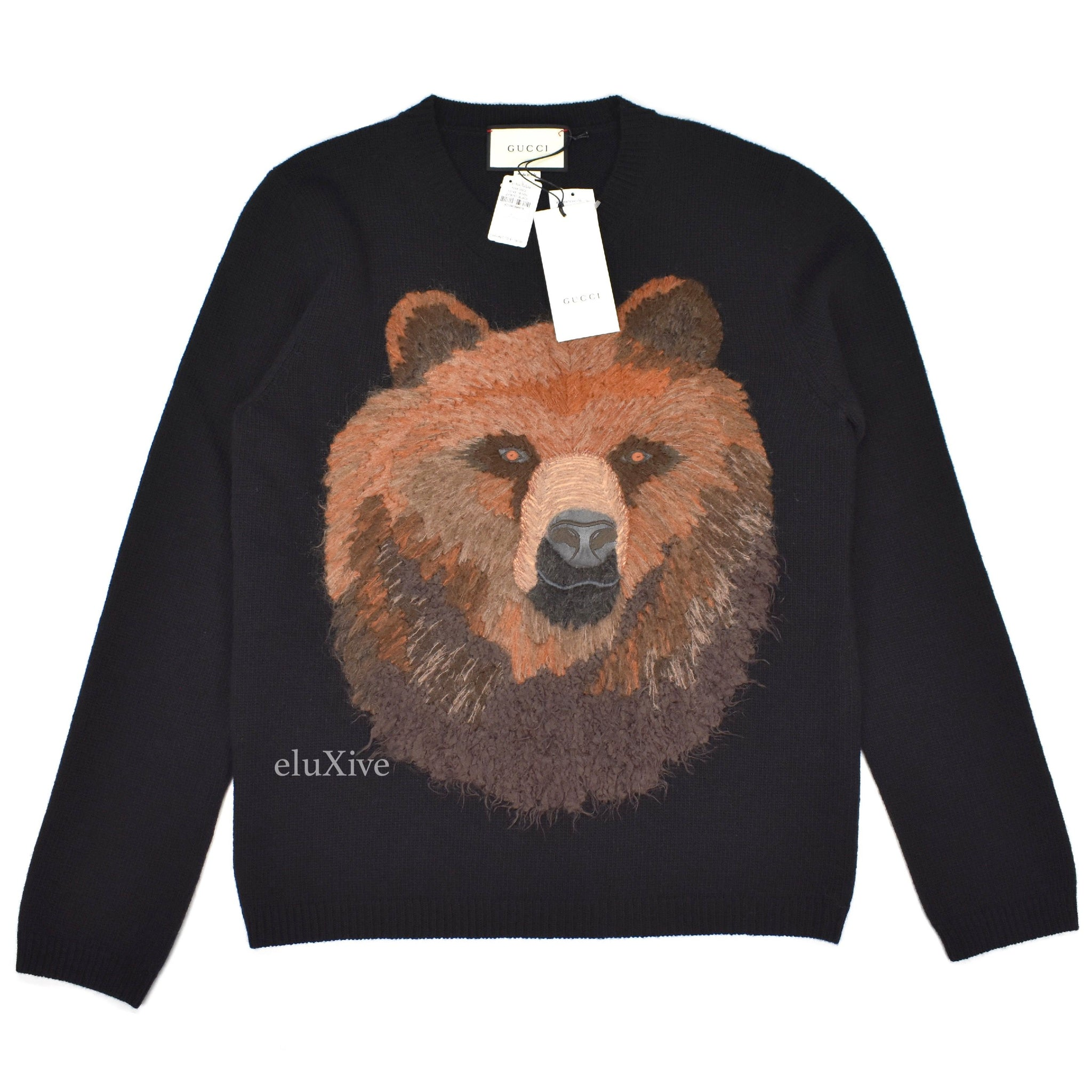 Gucci - Bear Embroidered Wool Sweater