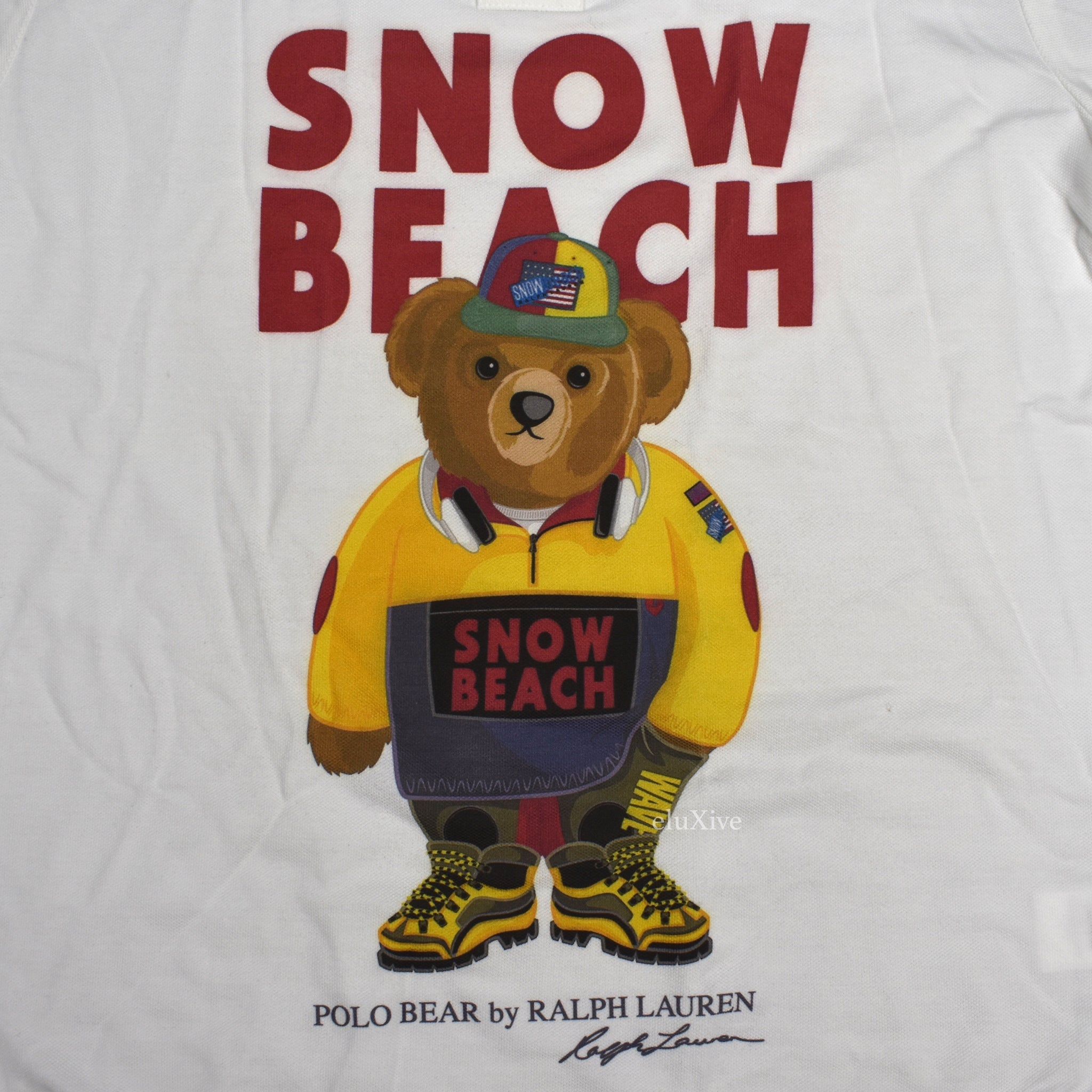 Polo Ralph Lauren Men S 1993 Snow Beach Bear Logo Polo Shirt Eluxive