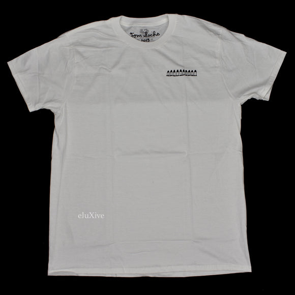 Tom Sachs -  White 'Bullet' Logo T-Shirt