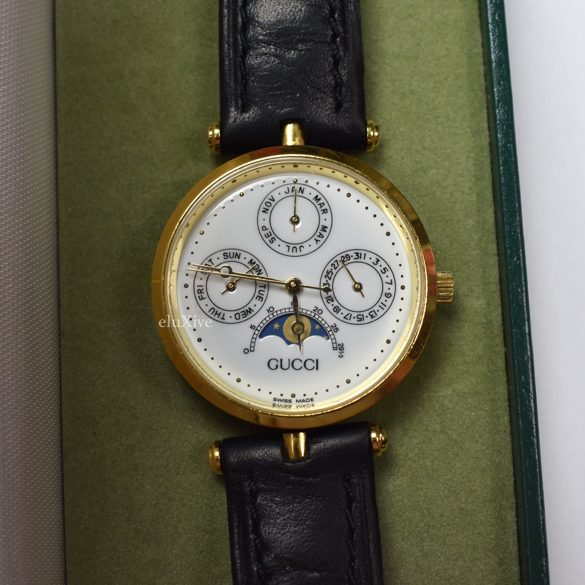 17ea282bbc2 Gucci - 1990s Men s 2000M Moonphase Calendar Dial Watch – eluXive