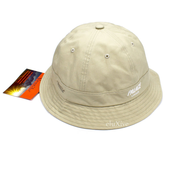 Palace - Ventile Logo Embroidered Bucket Hat (Stone)